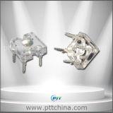 3mm blanco cálido Piranha LED, 3mm blanco cálido flujo estupendo LED, 2800-3200K, 6-8lm, 90 grados, 120degree