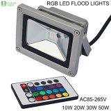 indicatore luminoso di inondazione di 10W 20W 30W 50W RGB LED IP65 impermeabile