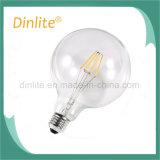 A melhor lâmpada de filamento do diodo emissor de luz do espaço livre G125 6W da qualidade