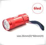 Minitaschenlampe des Förderung-Geschenk-6 LED