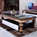 대중적인 금속 기초 대리석 센터 테이블 훈장 커피용 탁자