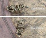 Латун-Сделанная мыжская конструкция летания Gragon кольца старый цвет ретро способ
