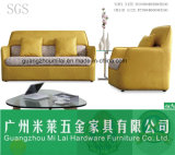 Modernes neues Entwurfs-Gewebe u. Leder-Sofa für Büro-Möbel