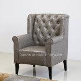商業厚遇のアーム(SP-HC549)を搭載する木製の革レストランの椅子