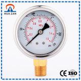 Petróleo do calibre do piezômetro do aço inoxidável medidor líquido da pressão do baixo