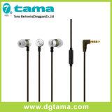 fone de ouvido estereofónico do fone de ouvido da em-Orelha de 3.5mm com o telefone do Mic colorido