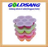 Contenitore 100% di cubo di ghiaccio del cassetto del congelatore degli alimenti per bambini del silicone del platino