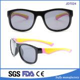 2017 óculos de sol polarizados do frame borracha colorida para miúdos