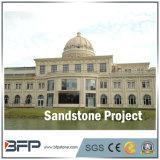 De goedkope Tegels van het Zandsteen van het Zandsteen Lichte Beige voor de Decoratie van de Villa/van het Hotel