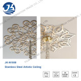 Rose Golden Perforated Metal Stainless Steel Plafond suspendu