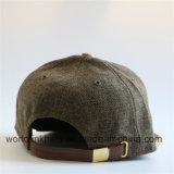 Linen шлем Snapback с выбитой золотом пряжкой металла