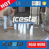 grande ghiaccio in pani messo in recipienti industriale della macchina 25t che fa macchina
