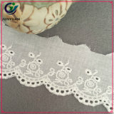 fora do laço Sewing do algodão branco do Cutwork que apara o laço decorativo