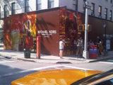 Im Freienzoll druckte farbenreiche Wind-Beständige Zaun-Verpackungs-Ineinander greifen-Fahne