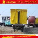 Sinotruk 60tons 트럭 팁 주는 사람은 또는 3개의 차축 트레일러를 반 내버린다