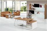 사무실 프로젝트를 위한 현대 베니어 매니저 책상 금속 컴퓨터 테이블