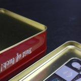Het de uitstekende Vierkante Doos van het Tin van het Venster/Tin van Giften/de Doos van het Metaal (S007-V3)