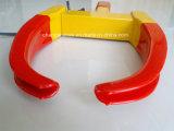 De rode en Gele Draagbare Klem van het Wiel voor Auto voor Motorfiets
