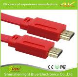 De zwarte Vlakke Kabel van de Kleur HDMI voor 3D