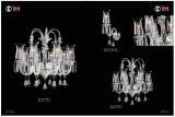 Luz de candelabro de cristal europeu romântico e simples