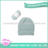 La mode tranquille a tricoté des chapeaux de crochet de bébé d'enfant de crochet