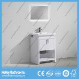 Moderner populärer Fußboden - eingehangener Badezimmer-Schrank mit LED-Lampe (BF384D)