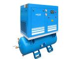 Compresseur d'air monté par réservoir à faible bruit lubrifié de vis (KA7-08/250)