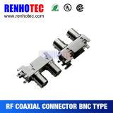 Connecteur duel à angle droit du support BNC de carte de connecteur femelle de BNC