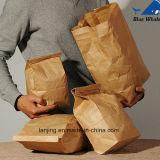 Sacs en papier réutilisés promotionnels personnalisés de Papier d'emballage de sacs en papier avec le guichet en plastique