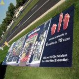 Bandera al aire libre barata al por mayor del PVC de la aduana, vinilo que hace publicidad de la bandera
