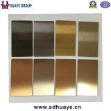 Der gefärbte Qualitäts-Edelstahl täfelt Überzug Brown, Tee-Gold, Grau, Wein-Rot, Bronze, Gold der Blatt-PVD