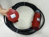 Кабель электропитания 3 участков с штепсельными вилками 32A