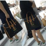 Imperméabiliser le sac lavé de Crossbody de noir de papier d'emballage (16A082-1)