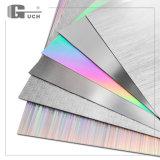 Efeito colorido com linhas grandes material do cartão de laser do animal de estimação