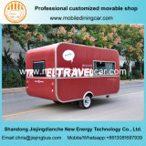 Jiejing rouge a fait à caravane la remorque mobile pour le déplacement