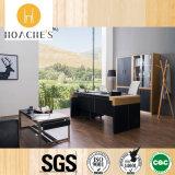 新製品の人間工学的の木の革オフィス用家具の机(V29)