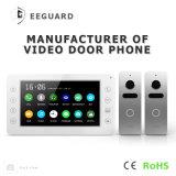 7 polegadas de interfone video do telefone da porta da segurança Home com memória