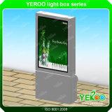 Двойник торгового центра встал на сторону алюминиевая рамка рекламируя коробку Scrolling светлую
