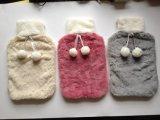 2017デキセドリン錠の珊瑚の羊毛カバーが付いている熱いゴム製熱湯袋