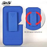 Shs Streifen-Muster-Effekt mit Riemen-Klipp 2 in 1 PC Handy-Fall für das iPhone 7 Plus