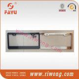 Cubierta de encargo de la placa del carnet de conducir del espacio en blanco de la capa del polvo negro