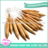 Meilleur Lagre bon marché pointeaux de tricotage circulaires en bois en bambou de 12 pouces
