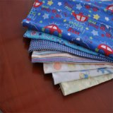 Baumwoll-CVC gedrucktes Flanell-Gewebe 100% für Kleid-Pyjamas