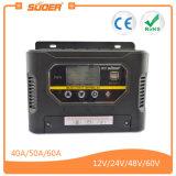 Contrôleur d'énergie solaire de Suoer 60A 12V 24V avec Ce&RoHS (ST-W1260)