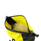 Sac imperméable à l'eau jaune extérieur de bicyclette pour le déplacement