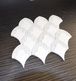 Azulejo Waterjet de mármol blanco de la piedra del mosaico de Carrara del precio barato