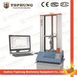 Máquina de teste elástica universal do servo do computador com extensómetro