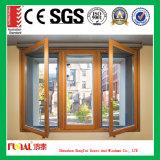 Finestra di vetro di alluminio del grano di legno