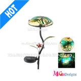 Lumière solaire de jardin du pieu DEL de lumière en métal d'impression
