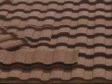 Azulejo de tejado de acero de Galvalume colorido / Azulejo de teja revestido de arena